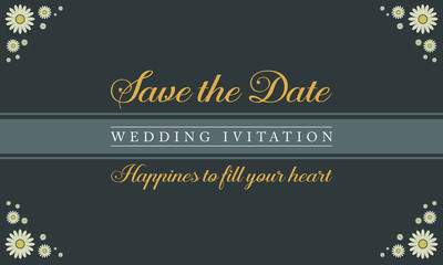 Collection stock of wedding invitation card