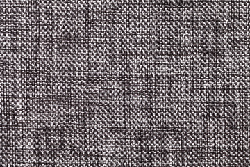 Black and white textile background closeup. Structure of the fabric macro