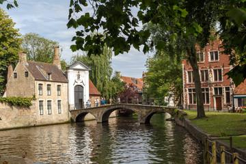 Lake and Bridge in Brugge