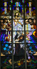 Fototapete - Stained Glass - Parable of the Prodigal Son