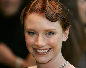 U.S. actress Bryce Dallas Howard arrives for UK premiere of The Village in London.