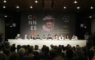 Penn attends a news conference at the 61st Cannes Film Festival