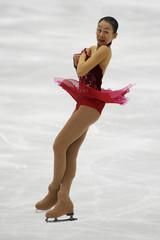 Asada of Japan performs during women's free skating programme at Japan Open figure skating competition in Saitama