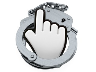Cursor with handcuffs