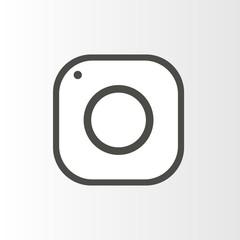 Camera, social icon.Vector