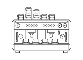 Coffee machine illustration