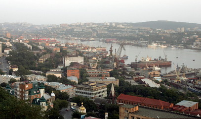 -PHOTO TAKEN 20SEP05- A view of Zolotoy Rog (Golden Horn) bay in Russia's far eastern city of Vladiv..