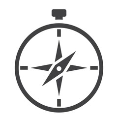 Compass solid icon, navigation and travel, vector graphics, a filled pattern on a white background, eps 10.