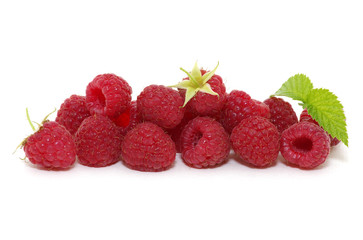 Raspberry with leaves