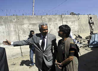 Indian Foreign Secretary Rao visits the Indian embassy in Kabul