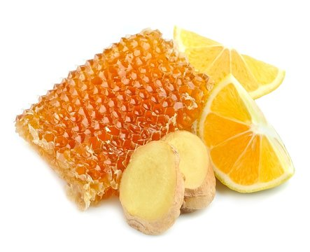 Honeycomb with lemon and ginger