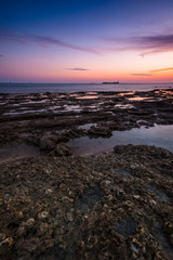Sunset on the beach of Chiclana