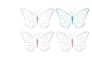 farfalle colorate disegno vettroaile