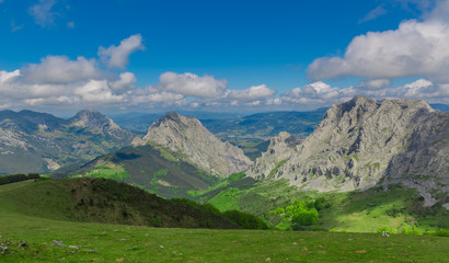 Landscape at Urkiola park in Basque Country