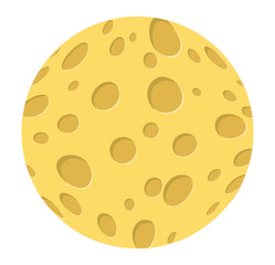 cartoon cheese moon vector symbol icon design.