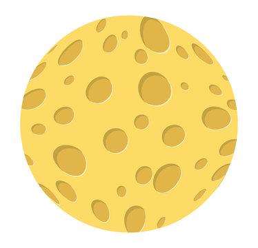 cartoon cheese moon vector symbol icon design.