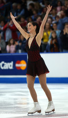 JENNIFER ROBINSON COMPETES IN FREE SKATING PORTION OF THE CANADIANFIGURE SKATING CHAMPIONSHIPS.