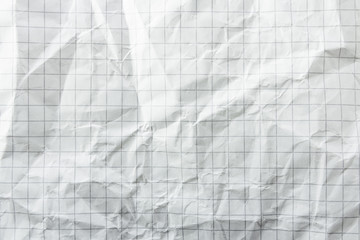 White rumpled paper texture. Background