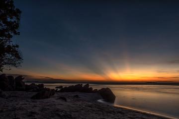 Sunset at ujung gelam beach, Karimun Jawa National Park