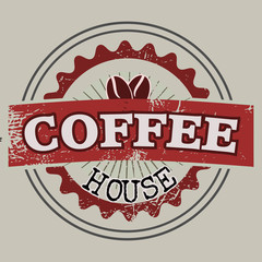 Coffee house label