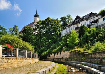 am Schloitzbach, Schloitzbachtal, Tharandt, Landkreis Sächsische Schweiz-Osterzgebirge, Sachsen, Deutschland
