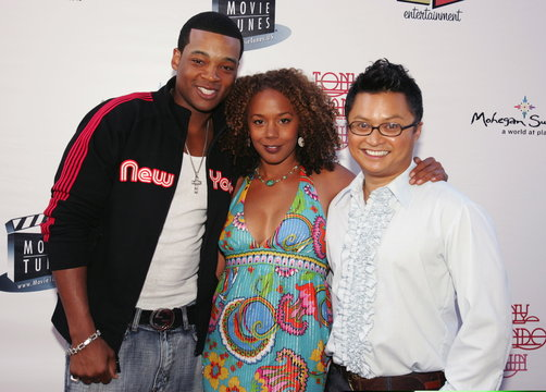 """Chico Benymon, Rachel True and Alec Mapa of """"Half and Half"""" arrive for a reunion concert by Tony ..."""