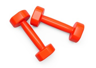 3D rendering Dumbbells for sports isolated on white background