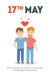 vector International Day Against Homophobia, Transphobia and Biphobia illustration