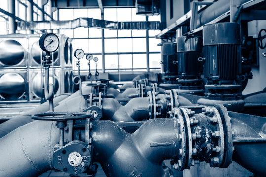 Equipment inside of industrial power