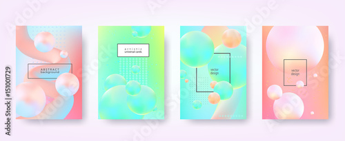 Abstract vector backgrounds in trendy hipster style with