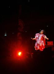 Icelandic singer Bjork performs during her concert the Volta Tour in Tokyo