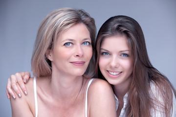 maman et fille beauté