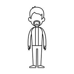 outline man person standing avatar image vector illustration