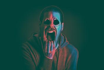 Scream scary concept