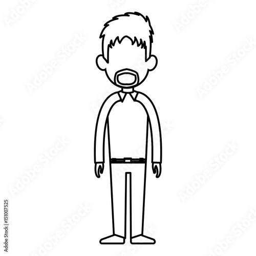 quotoutline man person standing avatar image vector
