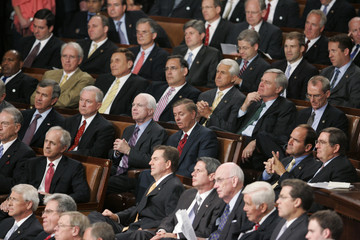 Republicans listen during U.S. President Barack Obama's address about healthcare reform to a joint session of the U.S. Congress on Capitol Hill in Washington