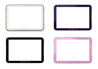 tablet colori assortiti isolati