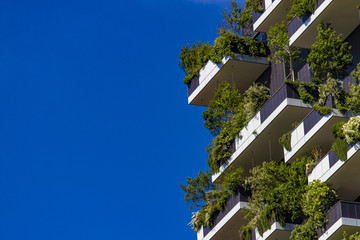 Tuinposter Milan Vertical Forest buildings in Milan, Italy