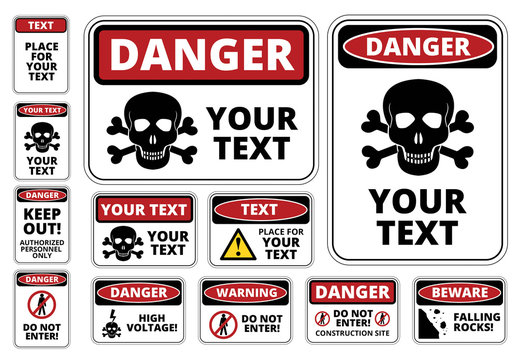 Danger Sign Templates