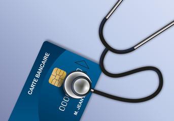 banque - compte en banque - compte bancaire -diagnostic - stéthoscope - finance,