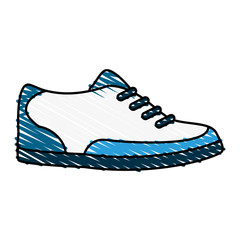color crayon stripe cartoon golf shoes port equipment vector illustration