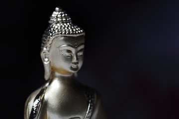 Statue of meditating buddha the messenger of God