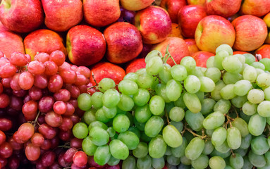Red Apple, Green Grape and Red Grape