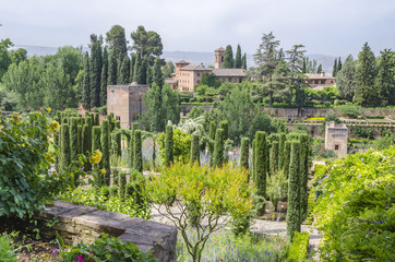 El Partal in Alhambra, Andalusia, Spain