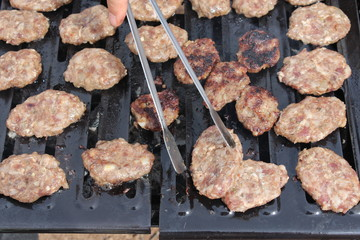 meatballs on barbecue