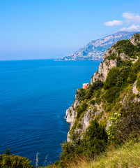 travel in Italy series - view of beautiful Amalfi Coast