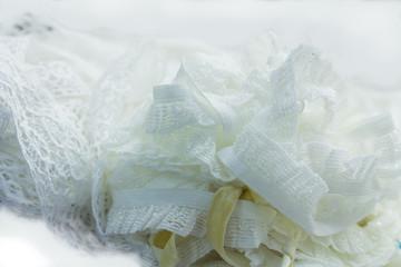 White lacework Cloth in closeup