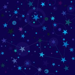 Starry Night pattern swatch (seamless tile)