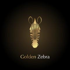 Logo golden head of a zebra.