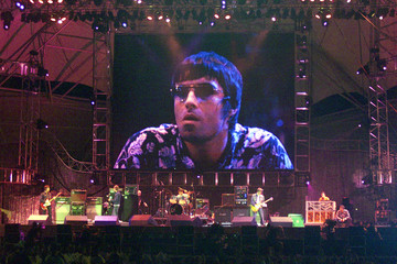 BRITISH OASIS LEADER LIAM GALLAGHER ON SCREEN AT ROCK IN RIO MUSIC FESTIVAL.